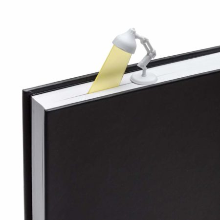 Lightmark 3D lamp bookmark in book - white