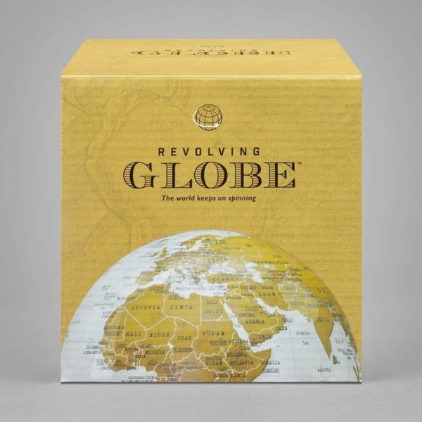 The Revolving Globe By Luckies of London packaging.