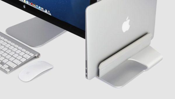 Rain Design mTower Vertical Laptop Stand On Desk
