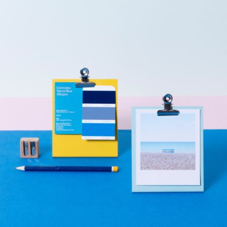 Mini standing clipboard with polaroids