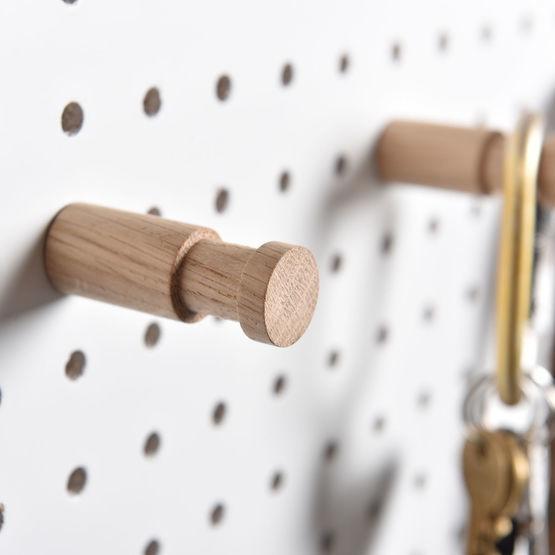 Large wooden pegboard peg 6mm hole width