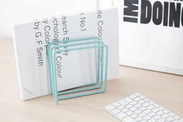 Block Design Desk top File Holder Blue
