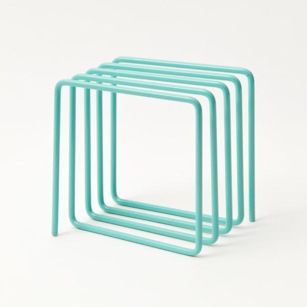 Block Design Blue File Rack Metal