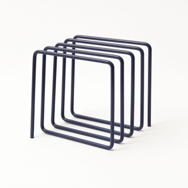 Block Design Grey File Holder Metal