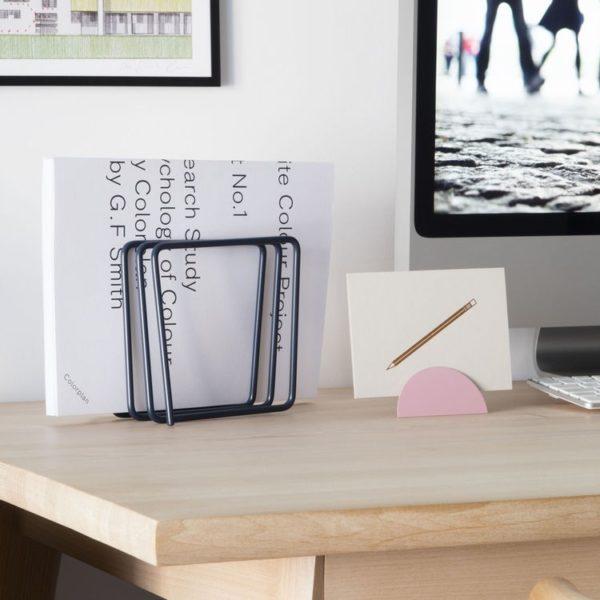 Block Design Desk top File Holder Grey