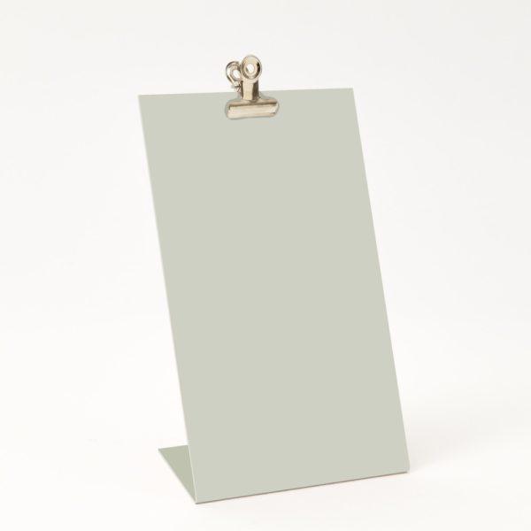 Standing Clipboard in white empty