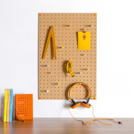 Wooden Pegboard use example by Block Design