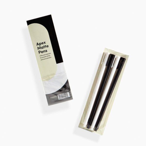 Poketo Apex Gel Pen Set Packaging