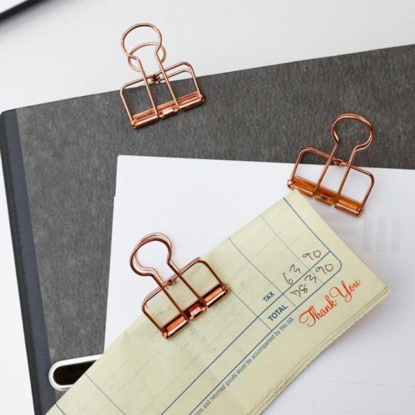 Kikkerland Copper Wire Clips