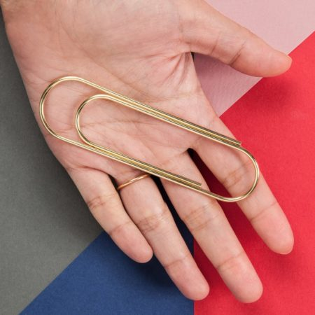 Giant Paper Clips in Hand