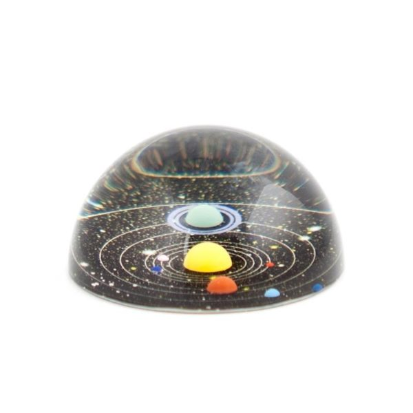 Planetary Solar System paperweight