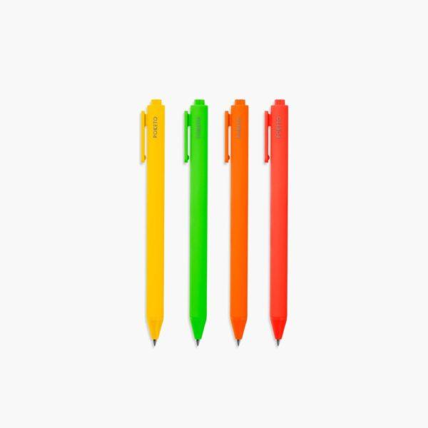 Warm Color Set Poketo Gel Pens Rollerball 0.5mm