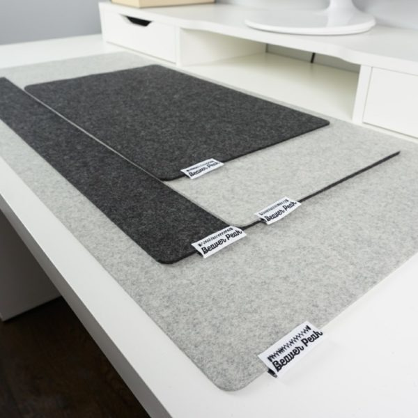Beaver Peak wool desk mat sizes